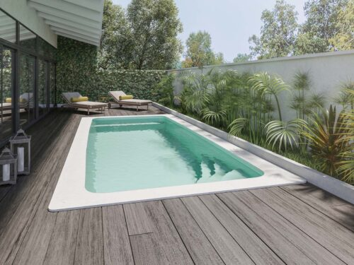 piscina rectangular pequeña