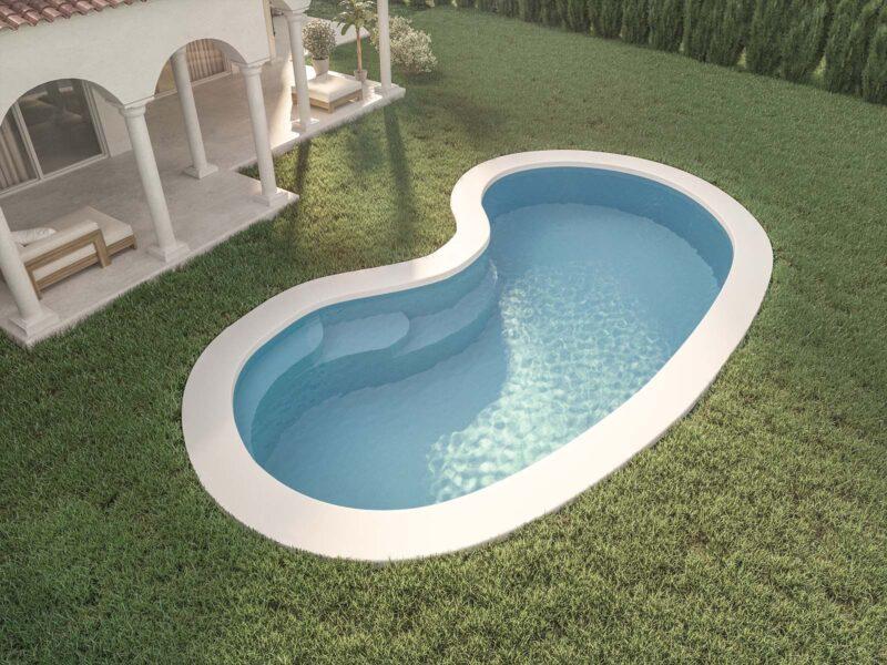 piscina forma de riñón