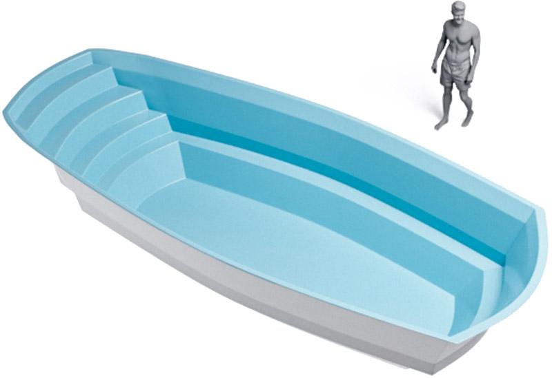 medidas piscina rectangular con curvas