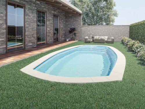 piscina con curvas