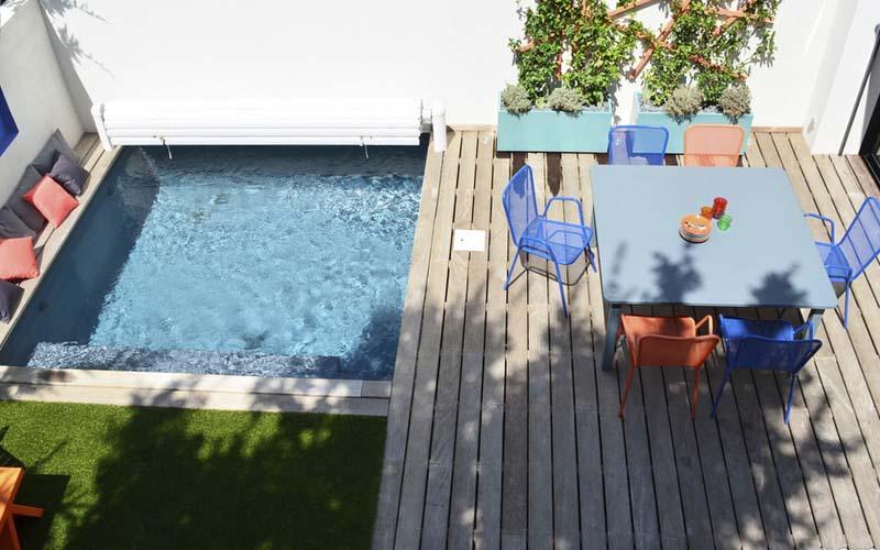 instalar piscina pequeña