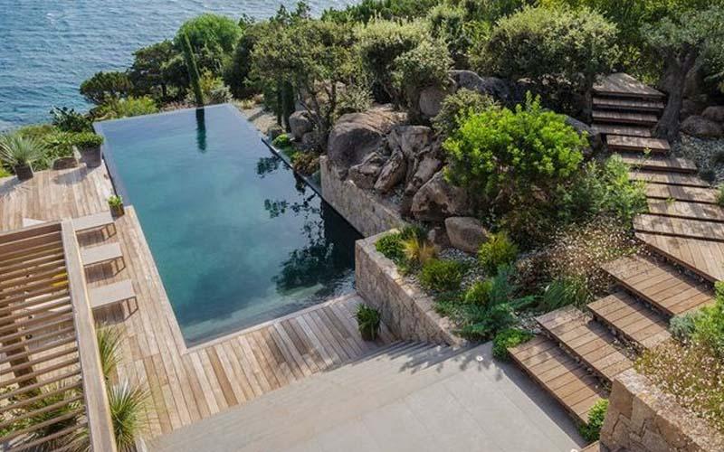 Jardines con piscina paisajismo
